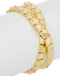 Noir Jewelry - 18k Plated Wrap Bracelet - Lyst