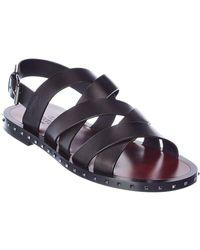 Valentino Valentino Garavani Leather Sandal - Black