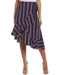 Laundry by Shelli Segal Wrap Skirt - Blue