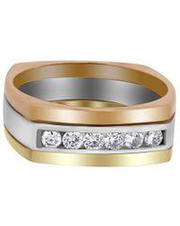 Heritage 18k Two-tone 0.20 Ct. Tw. Diamond Ring - Metallic