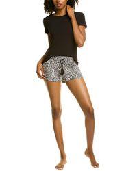 Flora Nikrooz 2pc Lola Shirt & Short Set - Black