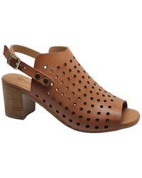 Eric Michael Berkeley Leather Wedge Sandal - Brown