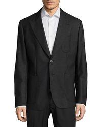 Dolce & Gabbana - Regular Fit Peak Lapel Virgin Wool Sportcoat - Lyst