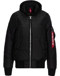 Alpha Industries Ma-1 Natus Quilted Flight Jacket W - Black