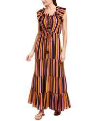 Figue Gianna Silk Maxi Dress - Pink