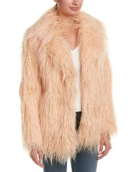 Kendall + Kylie Fuzzy Coat - Pink