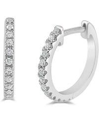 Sabrina Designs 14k 0.10 Ct. Tw. Diamond Huggie Earrings - Multicolour