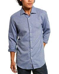 Reiss Jamie Herringbone Shirt - Blue