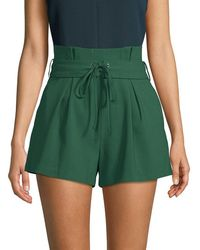 Endless Rose Pleated Lace-up Shorts - Green