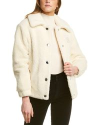 Burberry Rosewell Wool Jacket - White