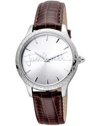 Just Cavalli Women's Calfskin Leather Watch - Metallic