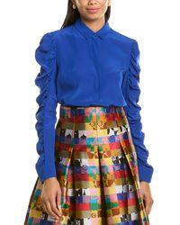 Akris Punto Silk Top - Blue