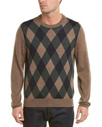 Brooks Brothers - Merino Wool Front Print Crew Neck Jumper - Lyst