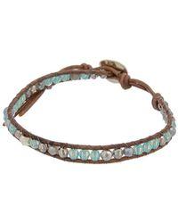Chan Luu Silver Mystic Labradorite & Crystal Bracelet - Metallic
