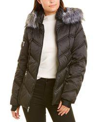 Nautica Short Quilted Coat - Black