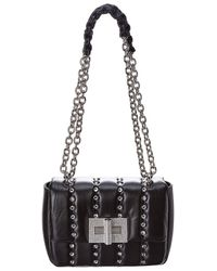 Tom Ford Natalia Small Disco Quilted Crystal Leather Shoulder Bag - Black