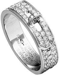 Hermès Hermes 18k 0.65 Ct. Tw. Diamond Ring - Metallic