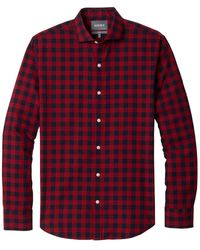 Bonobos Unbutton Down Gingham Shirt - Red