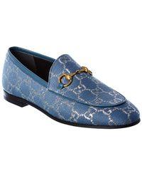 Gucci Jordaan GG Canvas Loafer - Blue