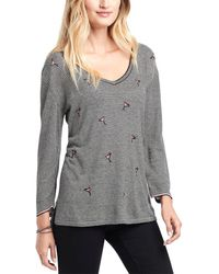NIC+ZOE Cosmo Linen-blend Sweater - Black