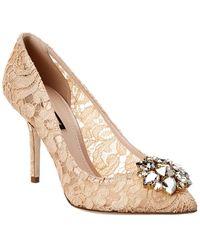 Dolce & Gabbana Bellucci Lace Pump - Pink