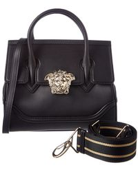 351970806ea6 Lyst - Versace Palazzo Shoulder Bag In Black Calfskin in Black