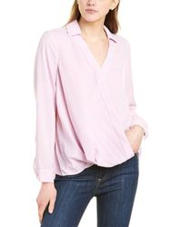 Vince Camuto Rumple Twill Top - Pink