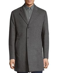 Saks Fifth Avenue - Double-faced Wool And Cashmere Single Breasted Top Coat - Lyst