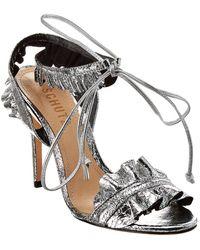 Schutz Irem Leather Sandal - Metallic