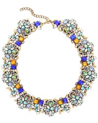 Sparkling Sage - 14k Plated Crystal & Resin Statement Necklace - Lyst