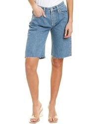 Rag & Bone Rosa Mid-rise Walking Short - Blue