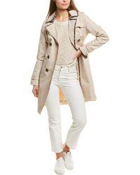 Tahari Maggie Trench Coat - Natural