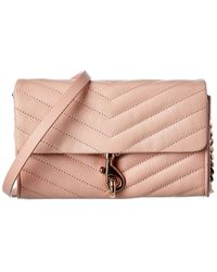 Rebecca Minkoff Edie Leather Wallet On Chain - Pink
