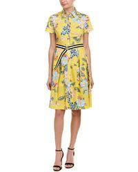 Donna Morgan Sporty Floral Shirtdress - Yellow