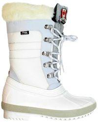 Pajar Doris Faux Fur-lined Winter Boots - White