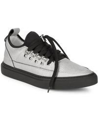 Alessandro Dell'acqua - Alessandro Dell''acqua Lace-up Pointed Metallic Sneaker - Lyst