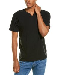 Threads For Thought Notched Slub T-shirt - Black
