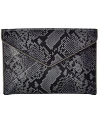 Rebecca Minkoff Python-embossed Leather Clutch - Multicolor