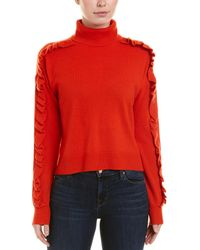 Cinq À Sept Savanna Cashmere Pullover - Red