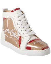 b192ebf0340 Christian Louboutin Flamingirl Printed Leather & Patent Sneaker in ...