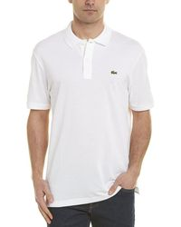 Lacoste L1212 Classic Fit Polo Shirt - White