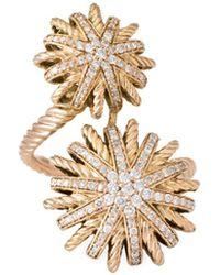 David Yurman - David Yurman Starburst 18k Rose Gold 0.44 Ct. Tw. Diamond Ring - Lyst