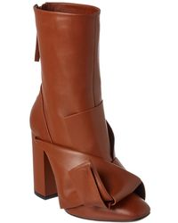 N°21 N?21 Knot Leather Boot - Brown