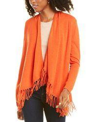 Magaschoni M Waterfall Wool & Cashmere-blend Cardigan - Orange