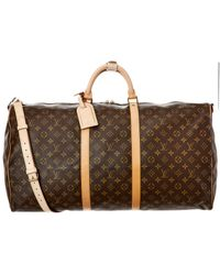 Louis Vuitton Monogram Canvas Keepall 60 Bandouliere - Brown