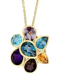 Effy - 14k 6.33 Ct. Tw. Gemstone Pendant Necklace - Lyst