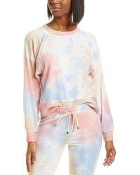 Ariella Brushed Tie-dye Sweatshirt - Pink