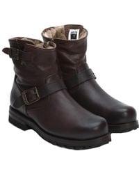 Frye Men's Warren Leather Engineer Boot - Black