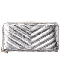 Rebecca Minkoff Edie Quilted Leather Wallet - Metallic