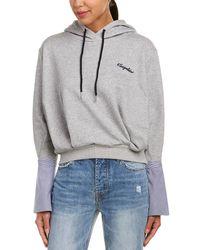 EVIDNT Shirt-sleeve Hoodie Sweatshirt - Gray